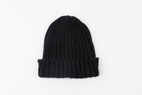 Black Acrylic Ribbed Hat - Vice Versa Hats