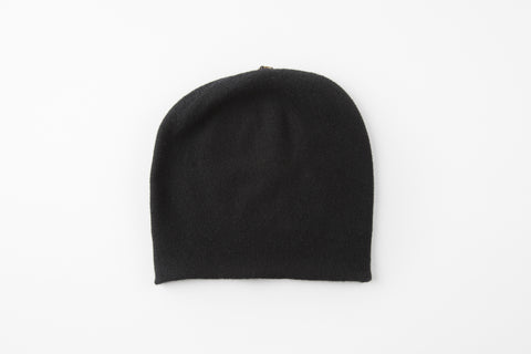 Floppy 100% Cashmere Black Hat