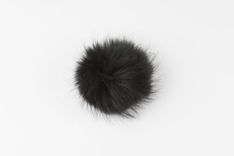 Black Raccoon Poof - Vice Versa Hats