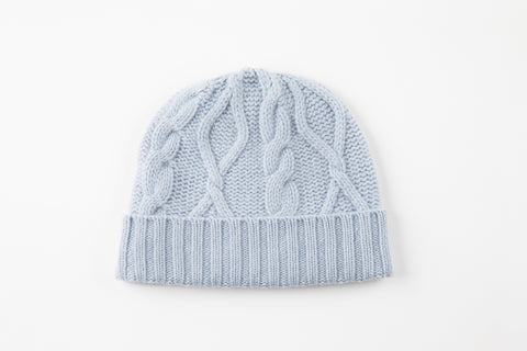 Light Blue Cashmere Hat - Vice Versa Hats