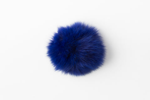 Electric Blue Fox Poof - Vice Versa Hats
