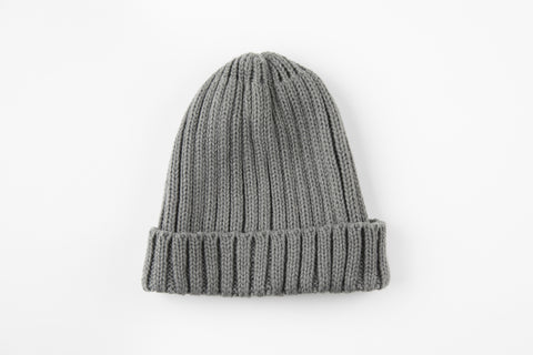 Gray Acrylic Ribbed Hat - Vice Versa Hats