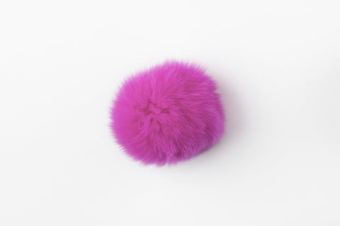 Hot Pink Fox Poof - Vice Versa Hats