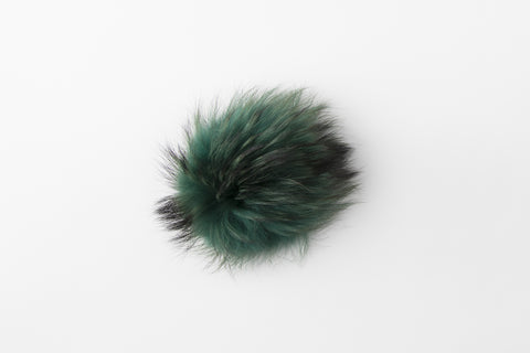 Hunter Green Raccoon Poof - Vice Versa Hats
