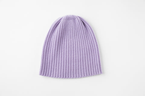 Lavender Cashmere Ribbed Hat - Vice Versa Hats