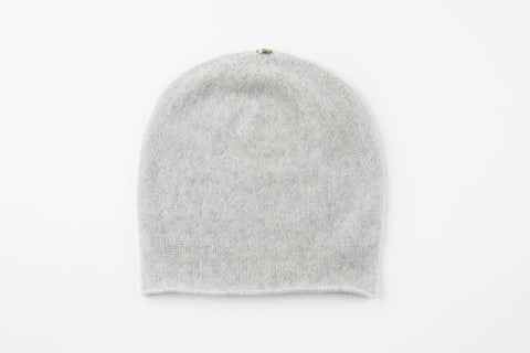 Light Gray 100% Cashmere Floppy Hat