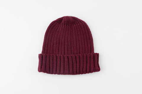 Maroon Acrylic Ribbed City Hat - Vice Versa Hats