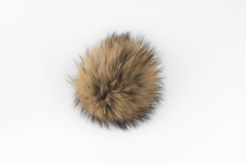 Camel Raccoon Poof - Vice Versa Hats