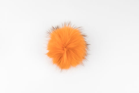Orange Raccoon Poof - Vice Versa Hats