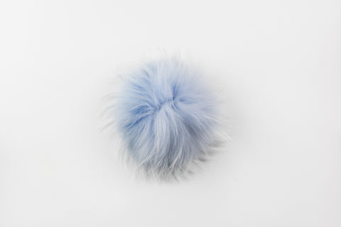 Baby Blue Raccoon Poof - Vice Versa Hats