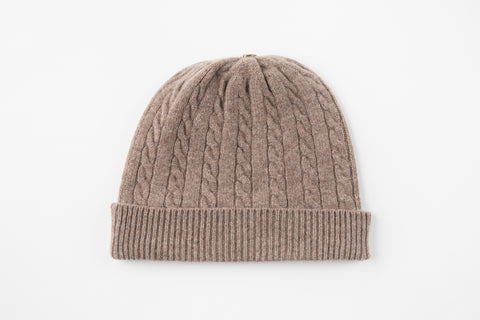 Sparrow 100% Cashmere Cable Knit Hat