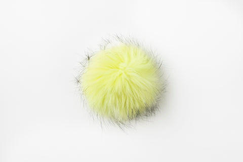 Yellow Raccoon Poof - Vice Versa Hats