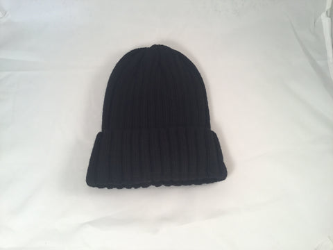 Black Acrylic Wool Blend Ribbed - Vice Versa Hats