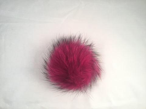 Fuschia Raccoon Poof - Vice Versa Hats