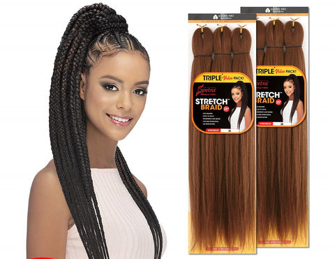 "VIVICA A. FOX AMORE MIO SPETRA STRETCH BRAID 25"" PRE STRETCHED BRAIDING HAIR"