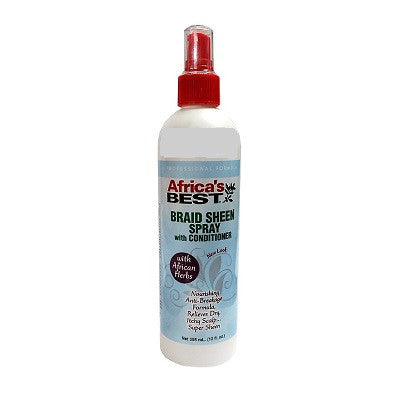 Africa's Best Braid Sheen Spray w/ Conditioner 12 fl oz
