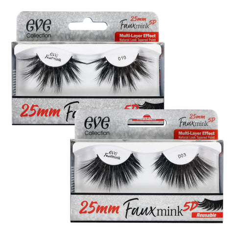 EVE Collection 25mm Faux Mink 5D Lashes