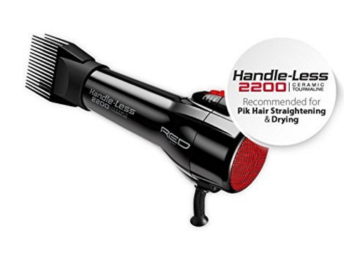 Red by Kiss Handle -Less 2200 Ceramic Tourmaline Dryer