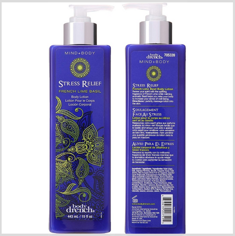 Body Drench Mind + Body Stress Relief French Lime Basil Body Lotion