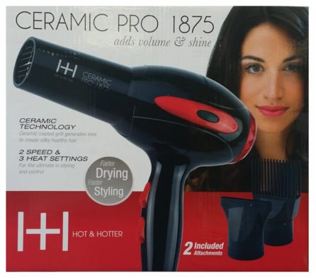 Hot & Hotter Ceramic Pro Hair Dryers