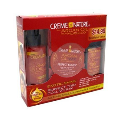 Creme of Nature Argan Oil Exotic Shine Perfect Trio Collection 3 Pcs Set