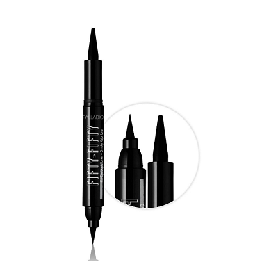 Palladio Fifty-Fifty Cat-Eye Liquid Liner + Smoky Kajal