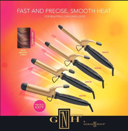 G 'N H by Gold 'N Hot Professional Ceramic Spring Curling Irons