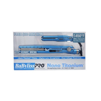 "BaByliss Pro Nano Titanium Straightening Irons 1 1/4"" Full & 1/2"" Mini"