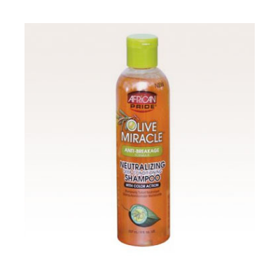 African Pride Olive Miracle Neutralizing Deep Conditioning Shampoo 8 fl oz