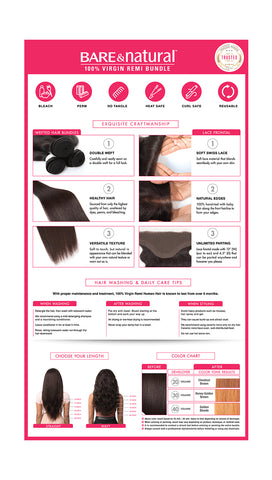 Sensationnel Bare & Natural Virgin Hair -  Lace Closure Bundle Deal (Body Wave)