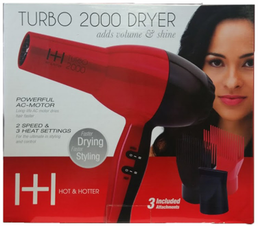 Hot & Hotter Turbo 2000 Hair Dryer