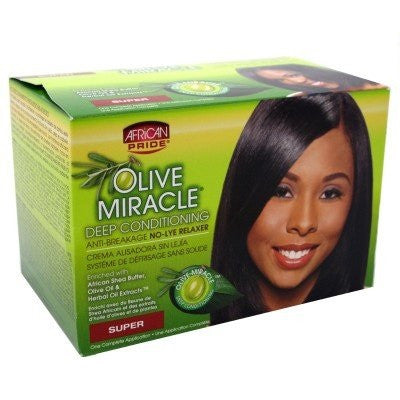 African Pride Olive Miracle Anti-Breakage No-Lye Relaxer