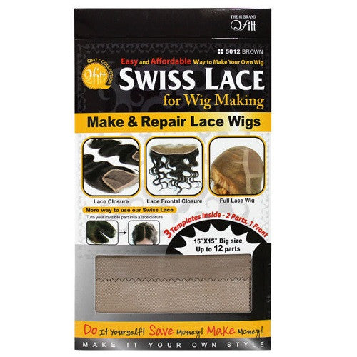 Q Fitt Swiss Lace for Wig Making