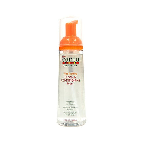 Cantu Shea Butter Frizz Fighting Leave-In Conditioning Foam 8.4 fl oz