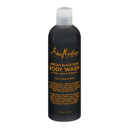 Shea Moisture African Black Soap Soothing Body Wash 13 oz