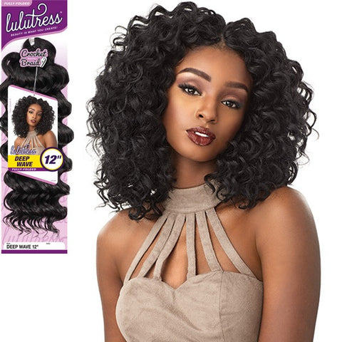 "Lulutress Fully Folded Deep Wave 12"" Crochet Braid"