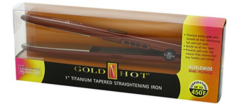 "Gold 'N Hot 1"" Titanium Tapered Straightening Iron"