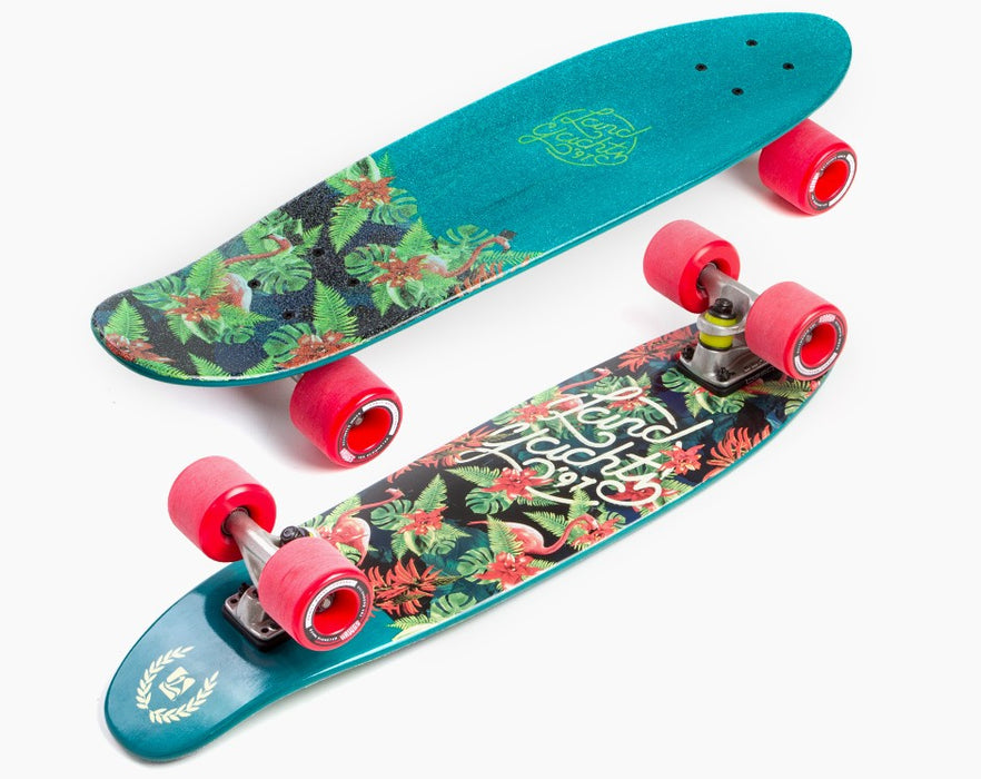 Landyachtz Dinghy Mini Floral Green Complete