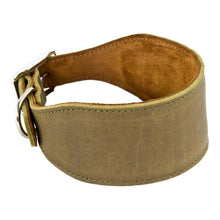 Load image into Gallery viewer, Earthbound Whippet Collar Leather Whippet Collars