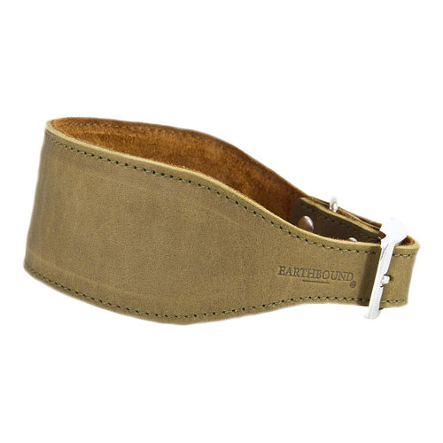 Earthbound Whippet Collar Medium / Green / Leather Leather Whippet Collars