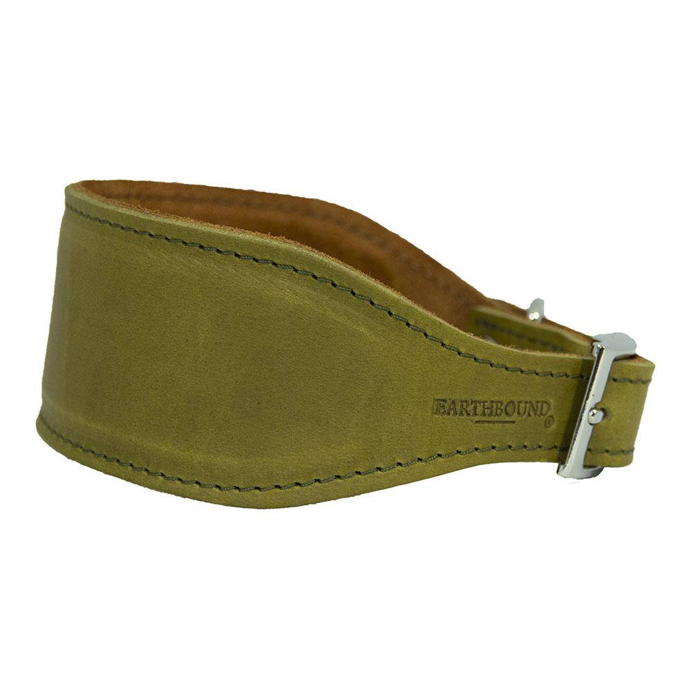 Earthbound Whippet Collar Small / Green / Leather Leather Whippet Collars