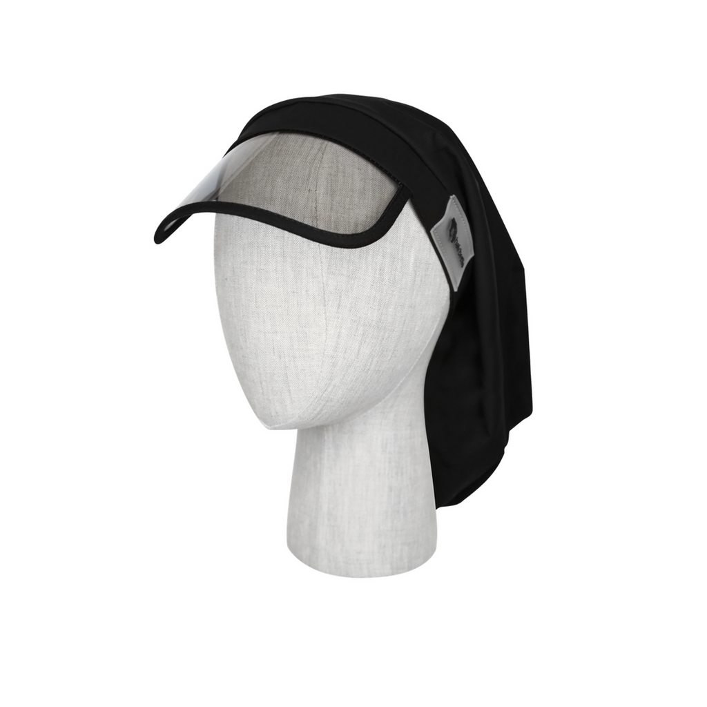 Hairbrella Women's Rain Hat Rain Bonnet Cap - protects hair from rain and humidity with satin-lining to protect hairstyle for all hair types and natural hair curly hair and straight hair