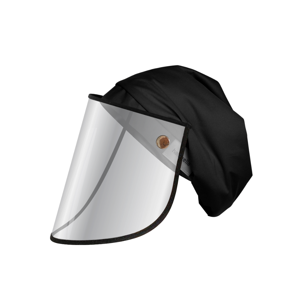 Hairbrella Pro Rain Hat + Face Shield