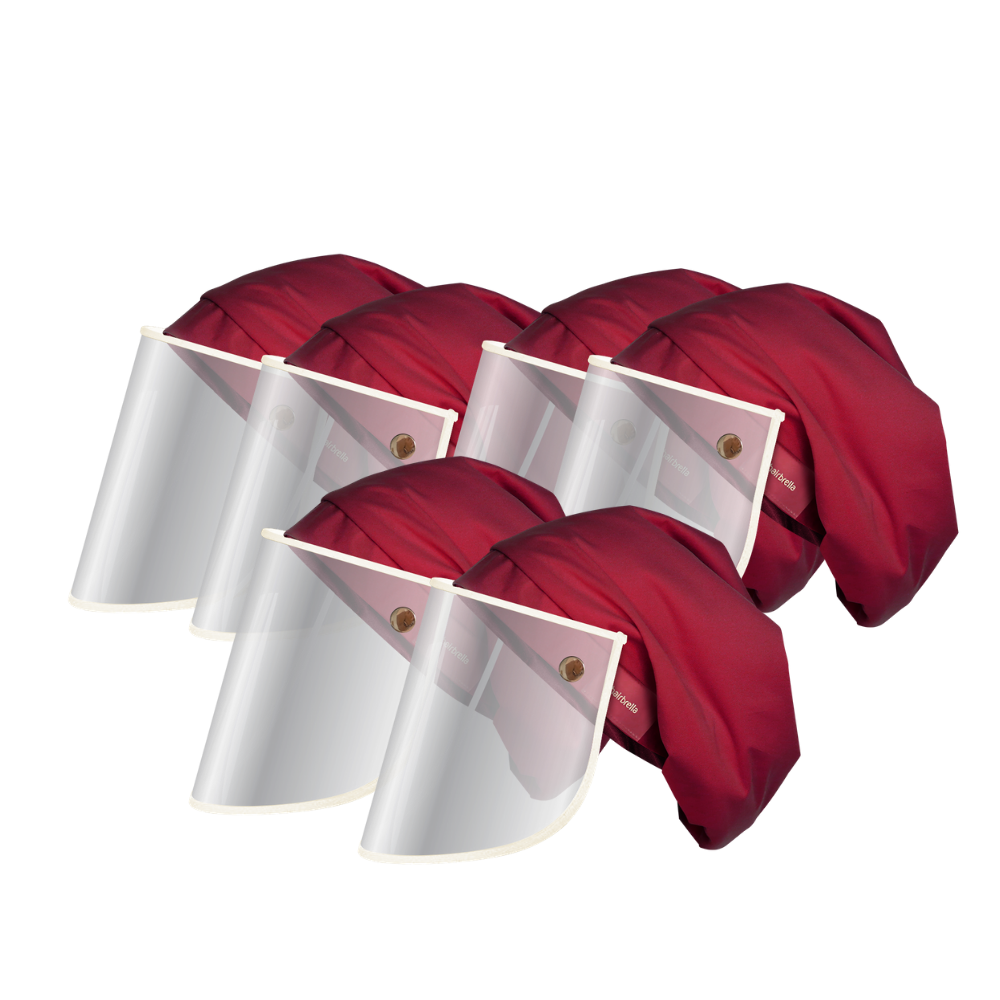 Hairbrella Pro Rain Hat + Face Shield Gifting Bundle (Buy 5, Get 1 Free)