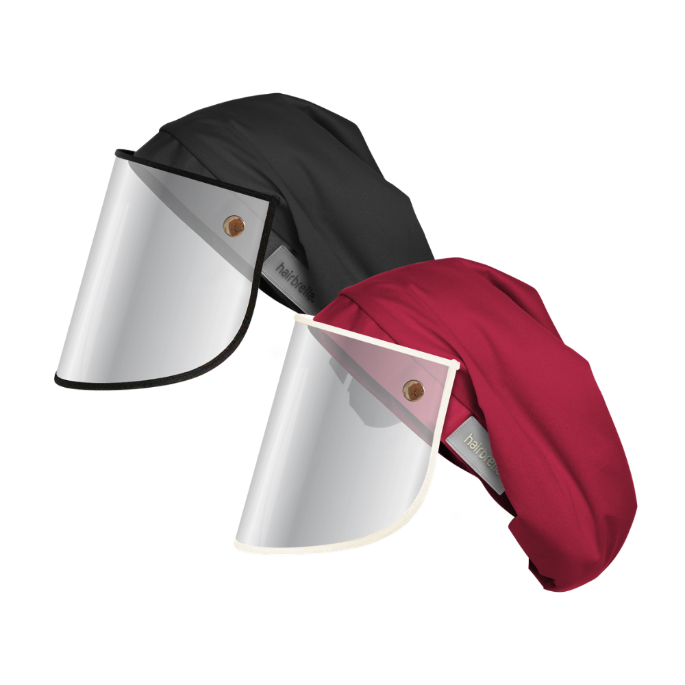 Hairbrella Pro XL Rain Hat + Face Shield - Bundle (2)