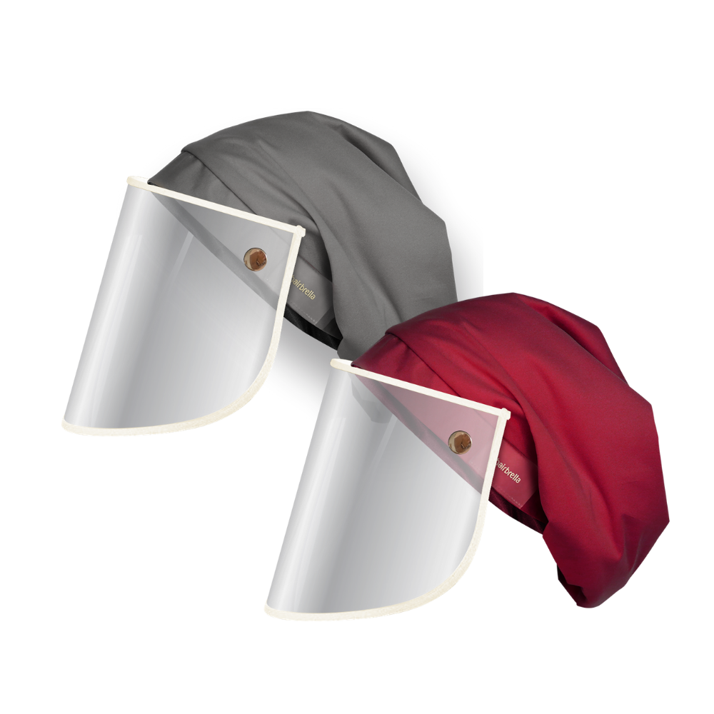 Hairbrella Pro Rain Hat + Face Shield - Bundle (2)