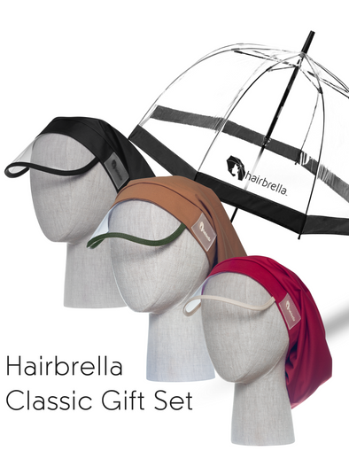 Hairbrella Gift Set - 3 Hairbrella Classics + Signature Dome Umbrella
