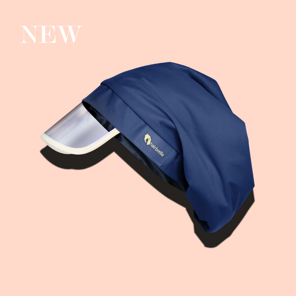 Hairbrella Satin-Lined Rain Hat - Navy Blue [Limited Edition]