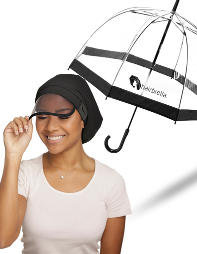 Hairbrella Classic Rain Hat & Signature Dome Umbrella