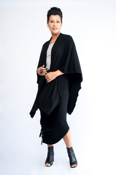 Take Me With You Shawl: Black